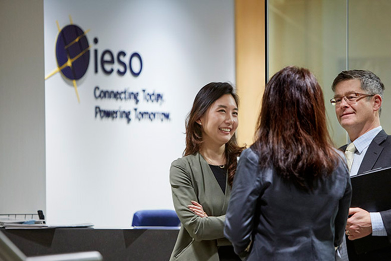 IESO employees in office