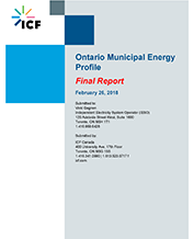Cover of Ontario Municipal Energy Profile