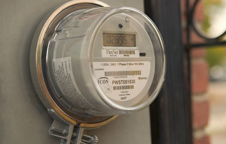 Photo of a smart meter.