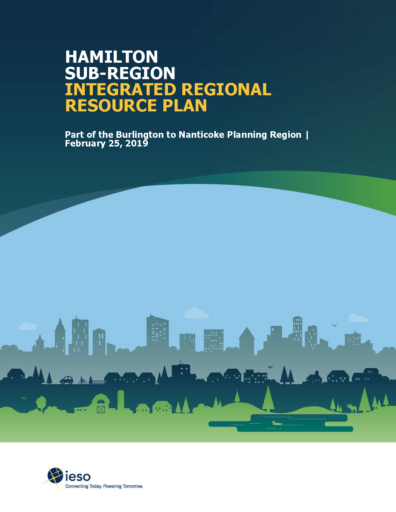 Hamilton Sub-Region Integrated Regional Resource Plan Cover