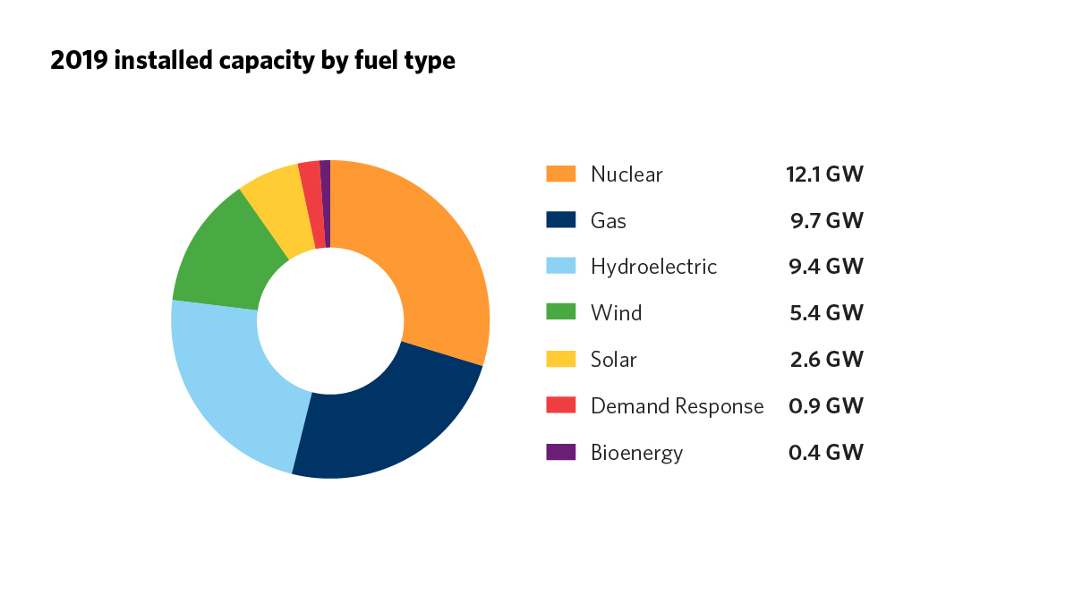 2019 Installed Capacity by Fuel Type graph