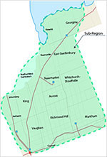 Map of York sub-region